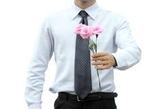 Романтичный бизнесмен Стоковые Фото