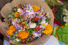 Романтичный букет красочных цветков весны Стоковая Фотография RF