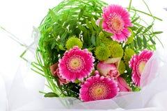 Романтичный букет розовых цветков Стоковые Фотографии RF