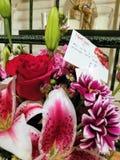Романтичный букет цветков стоковая фотография rf