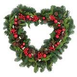 Романтичный венок рождества Стоковые Изображения