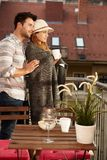 Романтичный вечер в балконе Стоковое Изображение