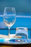 романтичный взгляд таблицы моря Стоковое Фото