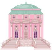 Романтичный дворец для принцессы иллюстрация штока