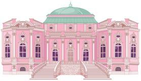 Романтичный дворец для принцессы иллюстрация вектора