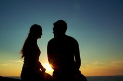 Романтичный восход солнца Стоковые Фото