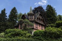 Романтичный дом в Эльзасе Стоковые Фотографии RF