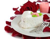 Романтичный десерт Стоковое Фото