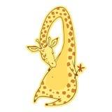 Романтичный желтый жираф Стоковое Фото