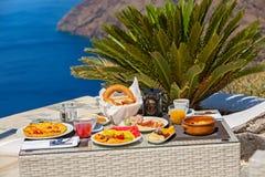 Романтичный завтрак для 2 Стоковые Изображения RF