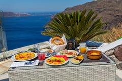 Романтичный завтрак для 2 Стоковые Изображения