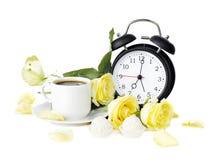 Романтичный завтрак с кофе Стоковое Изображение
