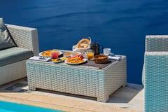 Романтичный завтрак для 2 Стоковое Изображение