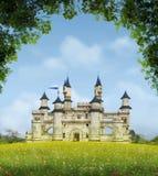 Романтичный замок фантазии Стоковые Изображения RF