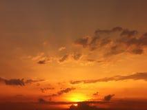 романтичный заход солнца Стоковые Фото