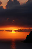романтичный заход солнца Стоковое фото RF