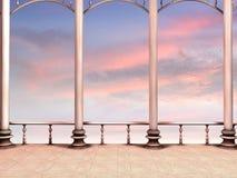 романтичный заход солнца Стоковое Изображение