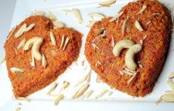 Романтичный индийский десерт стоковая фотография rf
