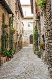 Романтичный итальянский переулок Стоковые Изображения RF