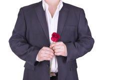 Романтичный и симпатичный человек Стоковые Изображения