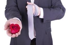 Романтичный и симпатичный человек Стоковое Фото