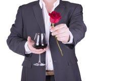 Романтичный и симпатичный человек Стоковые Фото