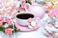 Романтичный комплект кофе Стоковые Фото