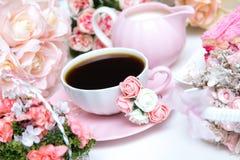 Романтичный комплект кофе Стоковое Изображение RF
