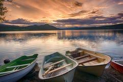 Романтичный ландшафт озера в Европе Стоковое Изображение