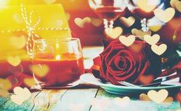 Романтичный обедающий для любимого Стоковое Фото