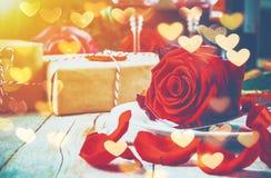 Романтичный обедающий для любимого Стоковые Изображения