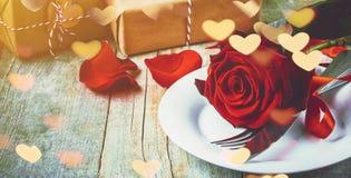 Романтичный обедающий для любимого Стоковое Изображение RF