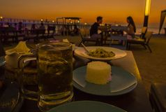 Романтичный обедающий стоковые фото