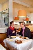 Романтичный обед для 2 Стоковые Фото