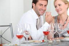 Романтичный обед Стоковое фото RF