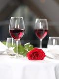 Романтичный обедающий Стоковые Изображения RF