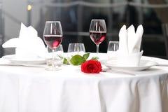 Романтичный обедающий Стоковые Изображения