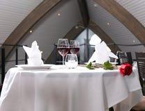 Романтичный обедающий Стоковое фото RF