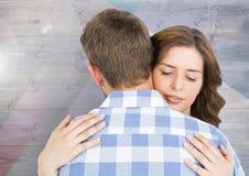 Романтичный один другого обнимать пар Стоковая Фотография RF