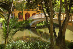 Романтичный парк стоковая фотография rf