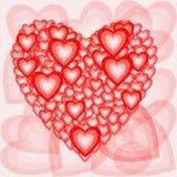 Романтичный состав сердец Стоковая Фотография RF