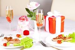 Романтичный, творческий завтрак. Стоковая Фотография RF