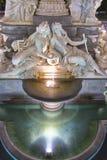 Романтичный фонтан в вене на ноче Стоковые Фото