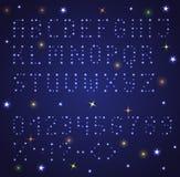 Романтичный шрифт от звезд Собрание характеров, номеров и Стоковое фото RF