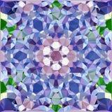 Ромбовидный узор покрашенных гениальных треугольников в форме цветка Стоковое Изображение RF