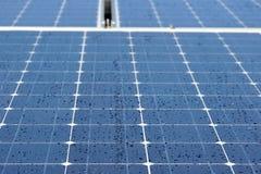 роса обшивает панелями солнечное стоковые фотографии rf