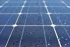 роса обшивает панелями солнечное стоковые изображения