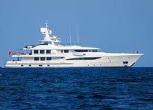 Роскошная большая яхта Стоковое Изображение RF