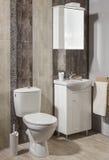 Роскошная ванная комната в квартире Стоковое Изображение RF