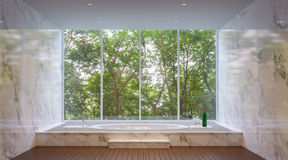 Роскошная ванная комната в природе Стоковая Фотография RF